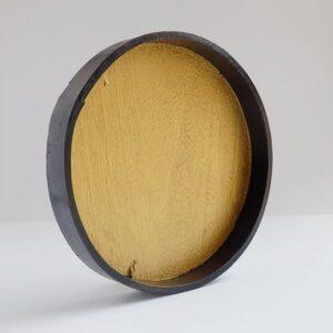 Bandeja redonda de madera