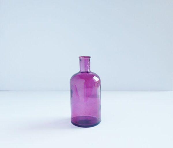 Botella retro de cristal mediana