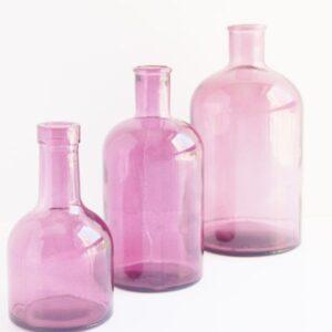 Botella retro de cristal