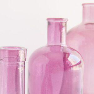 Detalle botella retro de cristal