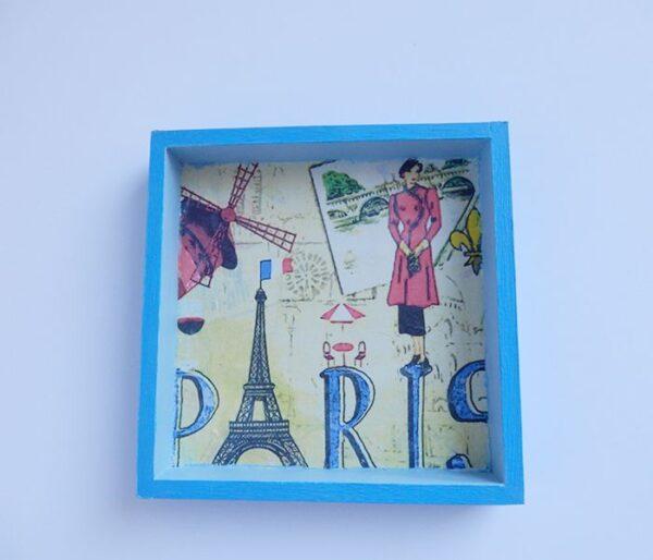 Cuadro de París en azul