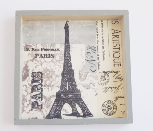 Detalle cuadro de París en gris