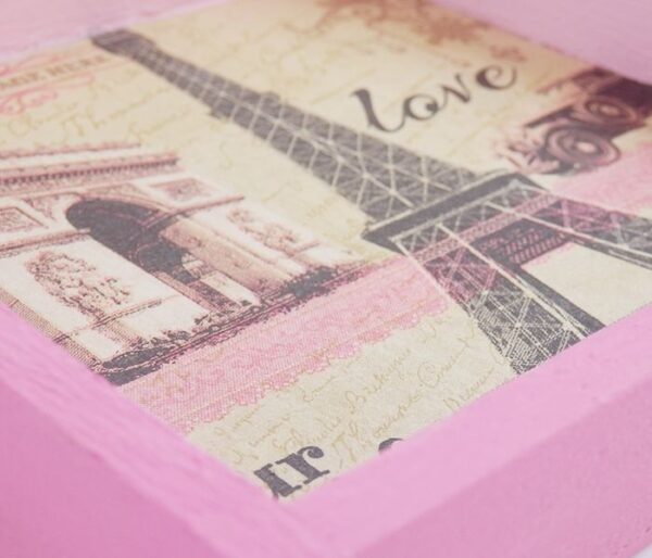 Detalle servilleta marco rosa
