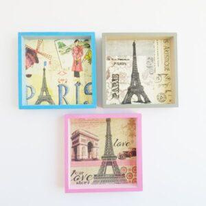 Trio de cuadros de Paris