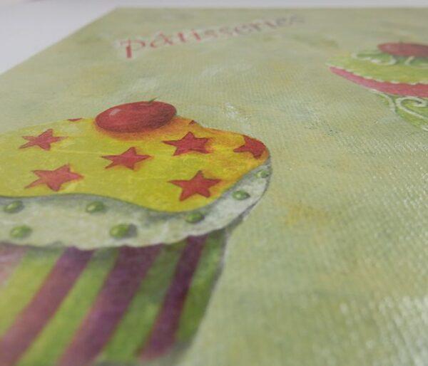 "Detalle lienzo postres ""Pâtisseries"""