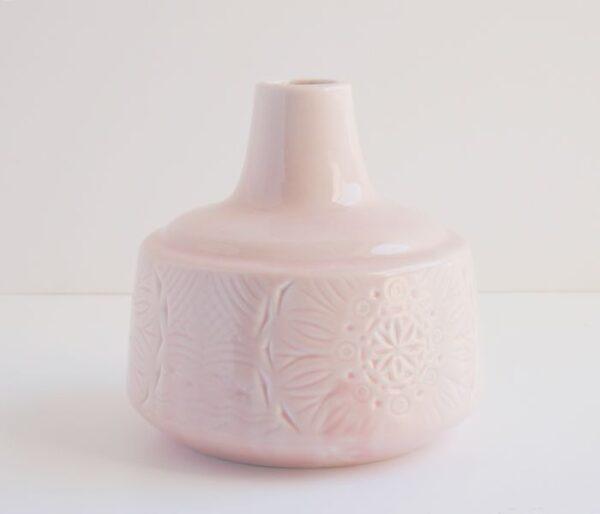Jarrón peonza grande color rosa palo