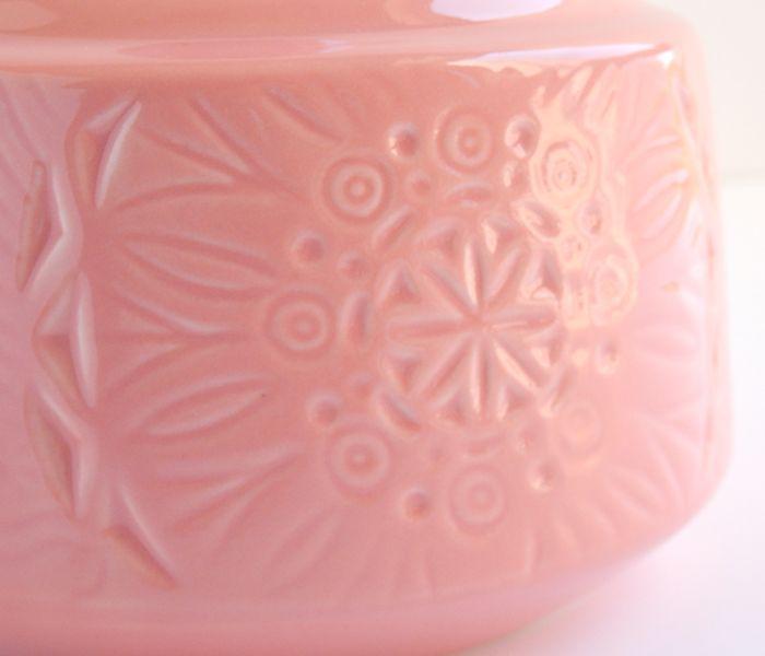Detalle jarrón peonza color salmón