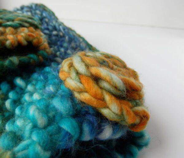 Conjunto de lana jaspeado