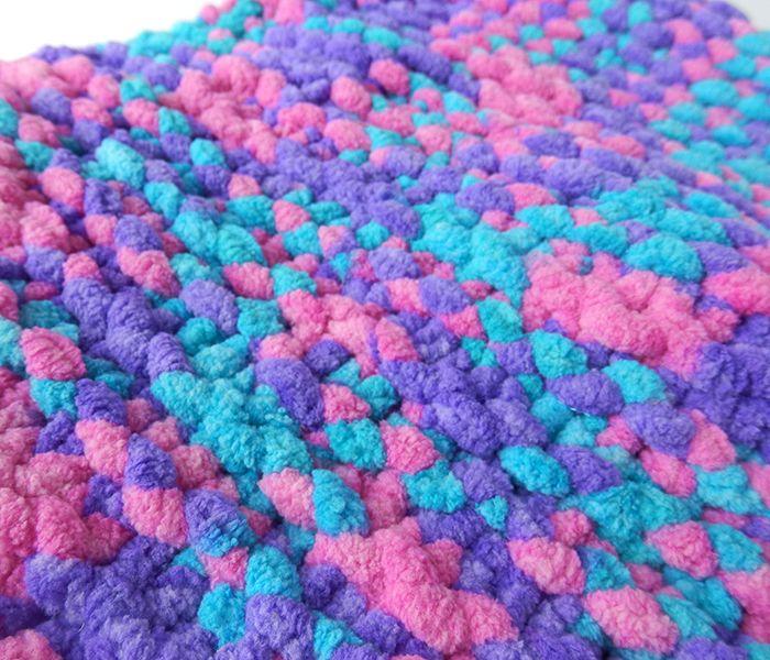 Cuello de lana gustoso azules