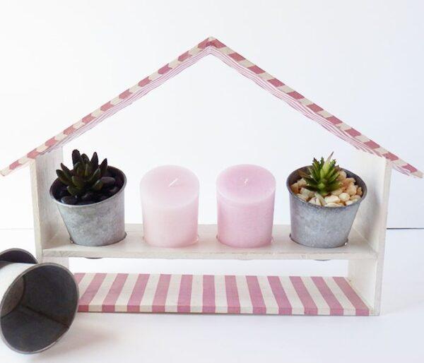 Casita jardinera en rosa