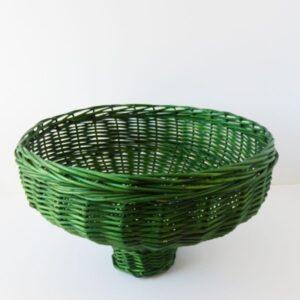 Cesta de mimbre verde grande