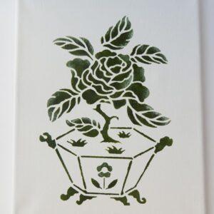 Lienzo japonés verde