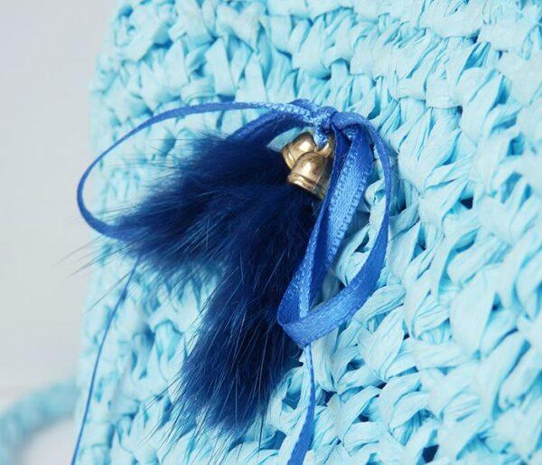 Bolso de papel azul