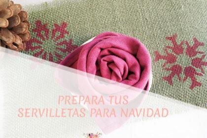 Prepara tus servilletas para Navidad